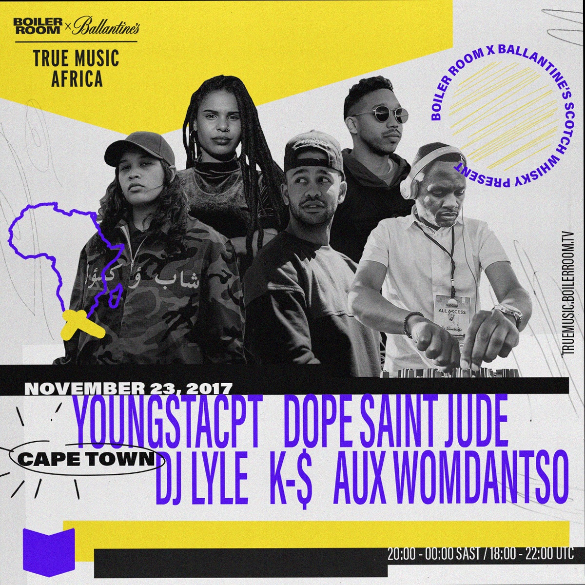 BOILER ROOM AND BALLANTINE'S BRING THEIR TRUE MUSIC PLATFORM TO AFRICA FOR A CROSS-CONTINENT TOUR Copy of SQUARE  1